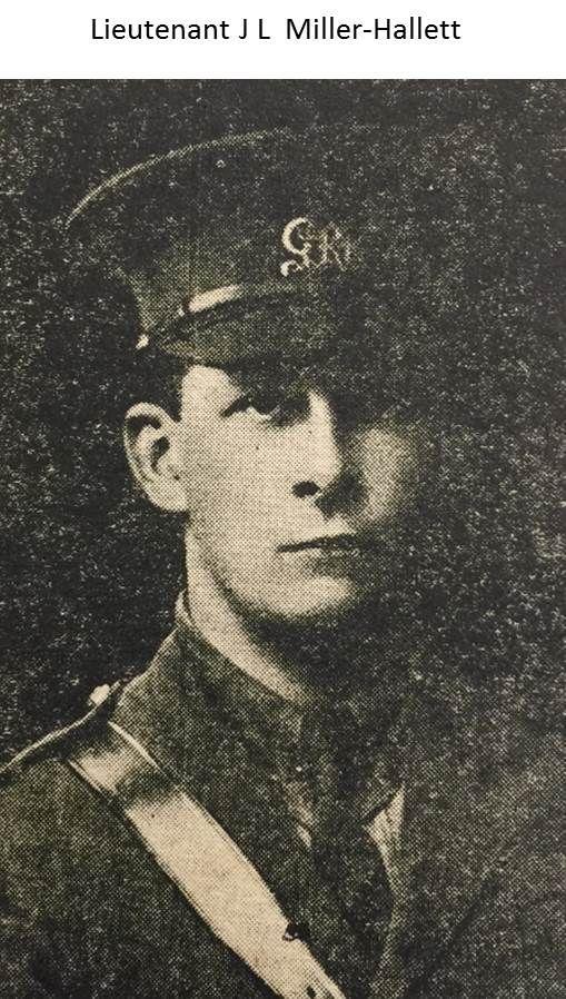 Lieutenant J L Miller-Hallett 1915