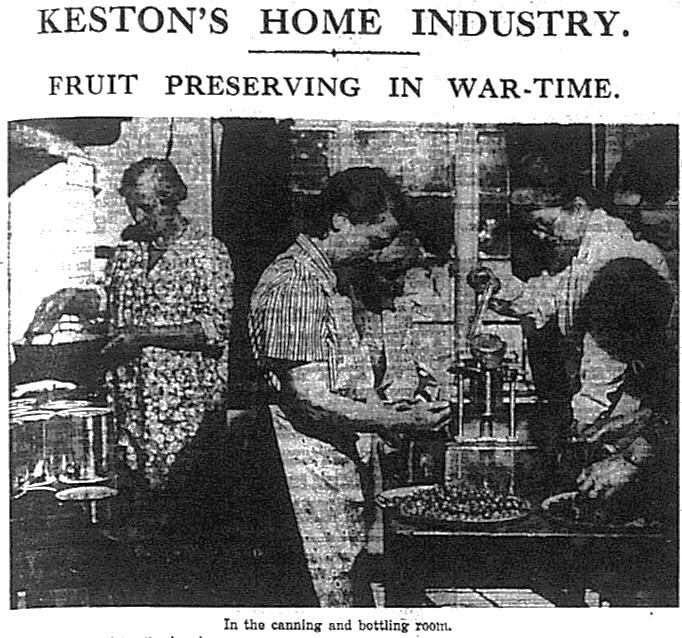 Fruit Preserving in Keston during WW2