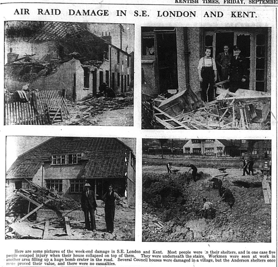 Air Raid Damage - September 1940