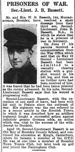 Prisoner Of War - Bassett