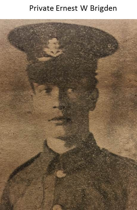 Private Ernest W Bridgen