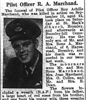 Pilot Officer RA Marchand