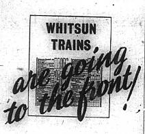 Travel Advice: Don't Travel at Whitsun, 1943