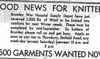 Call out for local knitters to help with the war effort