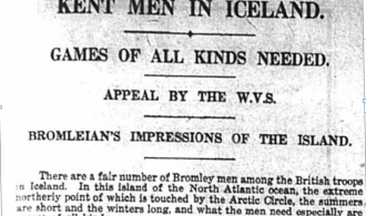 Article about Kent men in iceland needing more games