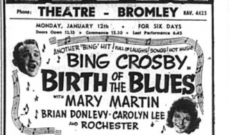 Odeon advert featuring Birth of the Blues film, published in the Bromley & District Times in January 1942