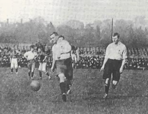 Bromley Football Club verses Bromley Homes Gaurd to a match on Christmas Day 1941