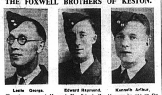 Portrait of the Foxwell Brothers of Keston, published in the Bromley Times on 2nd Jan 1942