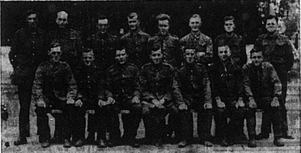Group images of Prisoners of war in world war two from the Royal West Kent Regiment