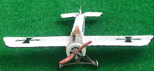 Model of the Fokker E.I German aircraft from WW1