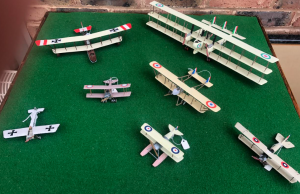 WW1 Model Aircraft at a scale of 1/72