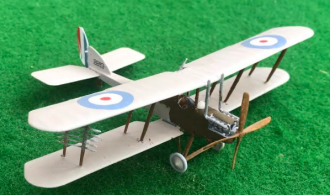 Model plane of the Royal Aircraft Factory BE2