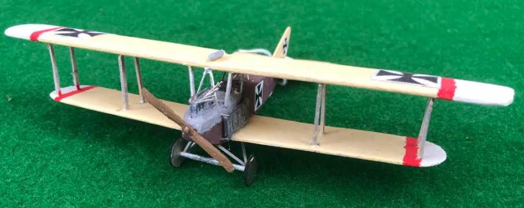 Scale model of the ALBATROS B.I German aircraft
