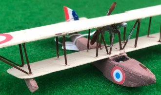 Scale model of the Franco British Aviation type c aircraft