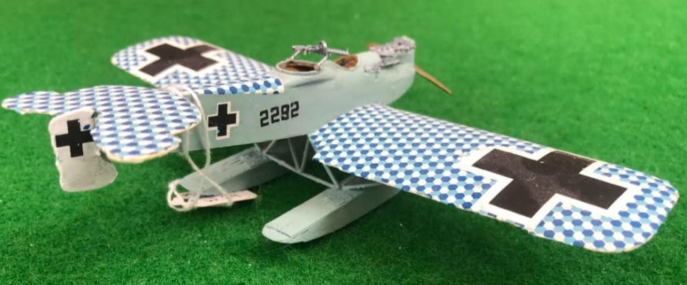 Scale Model of the Hansa-Brandenburg W29 German aircraft