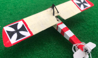 Scale Model of the PFALZ A. 1 German aircraft