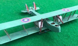 Scale model of a Martin MB-1 aircraft