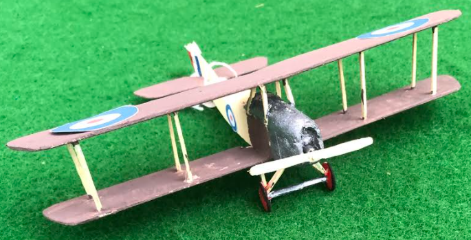 """Scale model of the Martinsyde G100 """"Elephant"""" - a British aircraft used in during the first world war"""