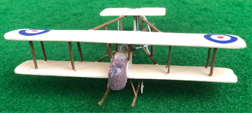 Scale model of the Vickers F.B.5 - a British aircraft used in during the first world war
