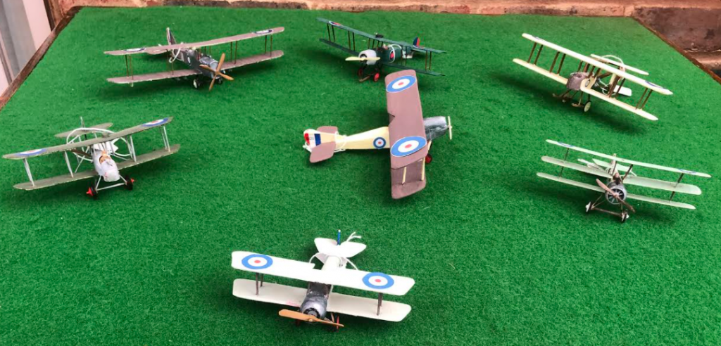 Selection of British Aircraft scale models