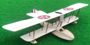 scale model of the Aeromarine 40F American flyingboat aircraft used in during the first world war