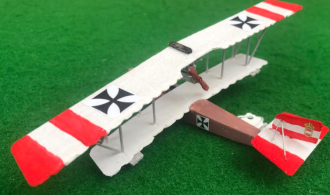 scale model of the Lohner E Austria-Hungarian flyingboat aircraft used in during the first world war