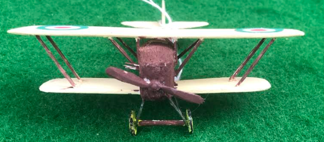 scale model of the Pomilio Gamma Italian aircraft used in during the first world war