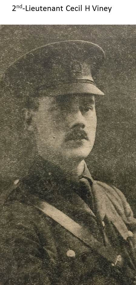 2nd-Lieutenant C H Viney 1914