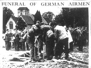 Furneral of German pilots - Cudham Church 1940