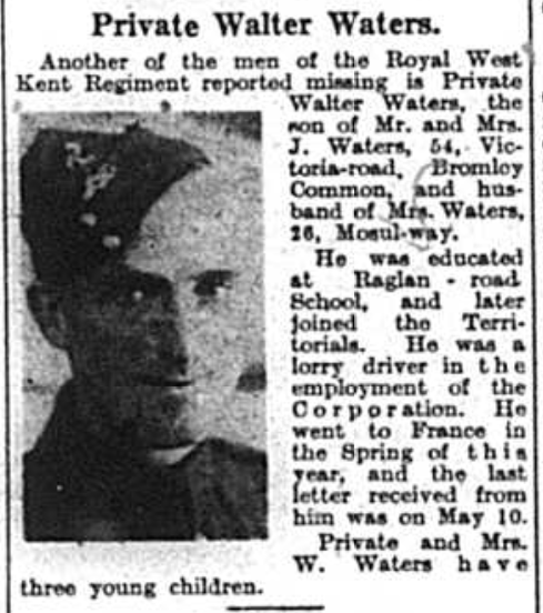Private Walter Waters