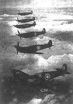 Spitfires in echelon