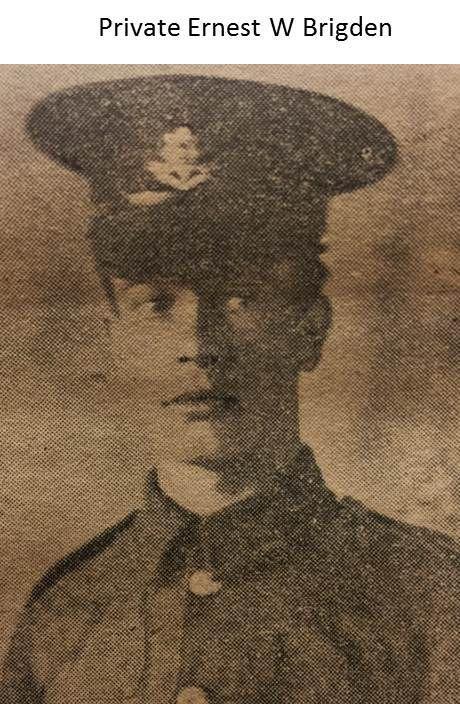 Private Ernest W Bridgen