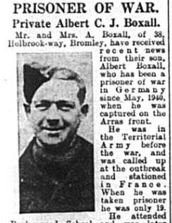 Private Albert C.J. Boxall