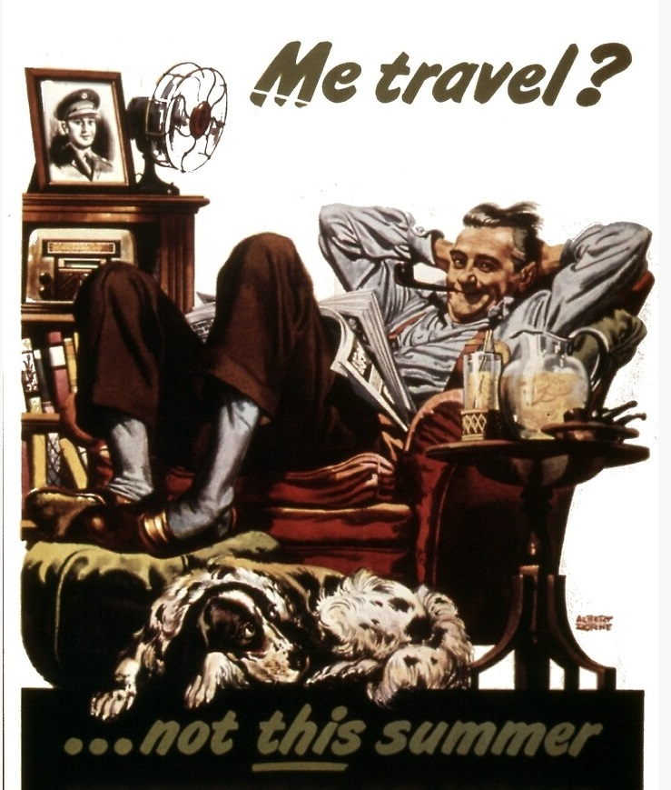 World War two advert for encourage staycations