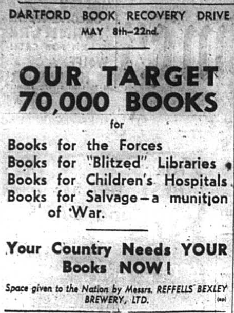 Advert for the Dartford Bok Recovery Drive