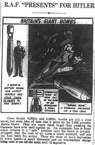 RAF Giant bombs advert