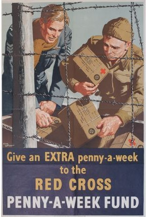 Advert for Penny-a-week fund during World War Two