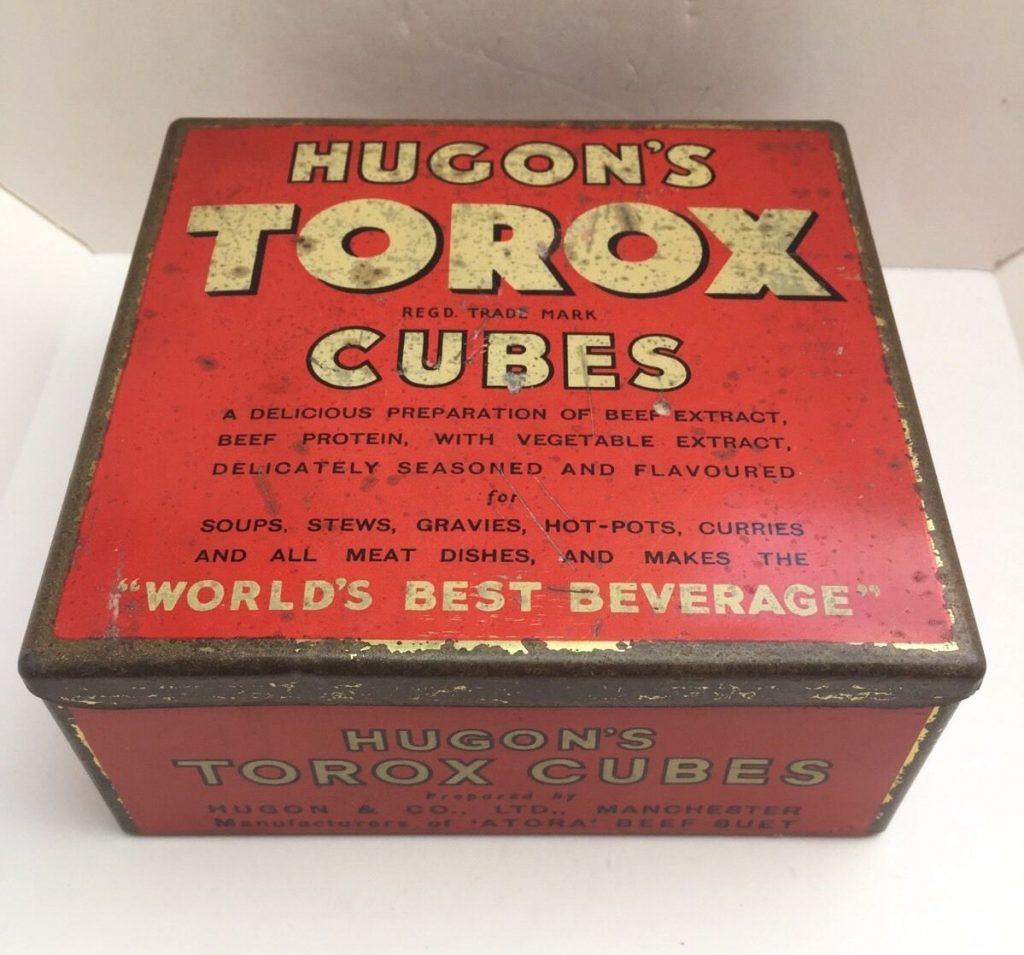Tin box of Hugon's Toroc beef extract cubes