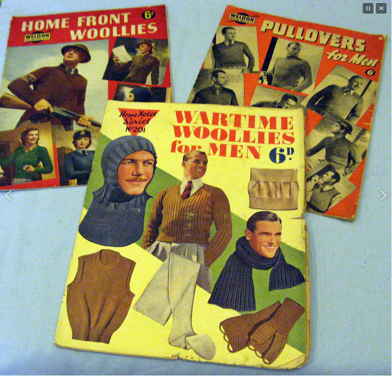 Knitting magazines with British patterns for the 1940s
