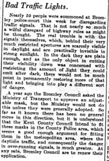 Bad Traffic Signals. Published on 5th September 1941