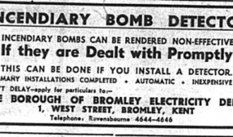 Don't Delay – install an Incendiary Bomb Detector today, 1941