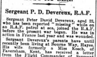 Sergeant Peter David Devereux