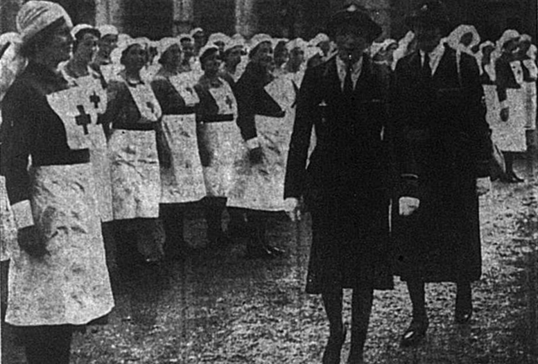 The Marchioness Camden visiting the Red Cross detachments in Bromley in October 1941