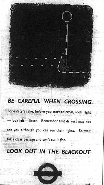 Black out advert from Bromley & District newspapers, November 1941