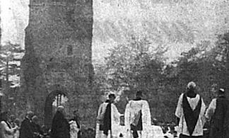 History made on ruins of Bromley Parish Church – 1941