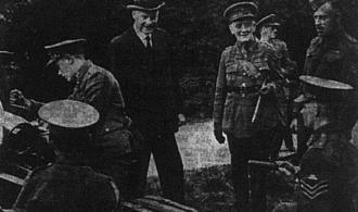 Lord Croft Watches over Gun Crew, 1941