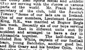 Members of the Coney Hall Sports Social Club around the world