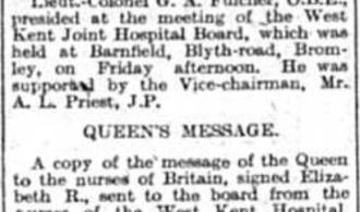 Queen's Message to Nurses: 1942