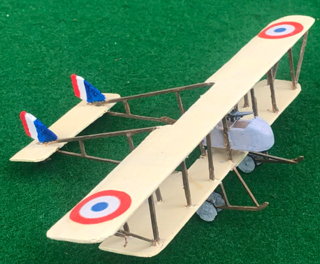 Model fo the Farman MF.11 Shorthorn French aircraft ww1