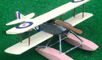 Model of the Sopwith Tabloid British aircraft from ww1